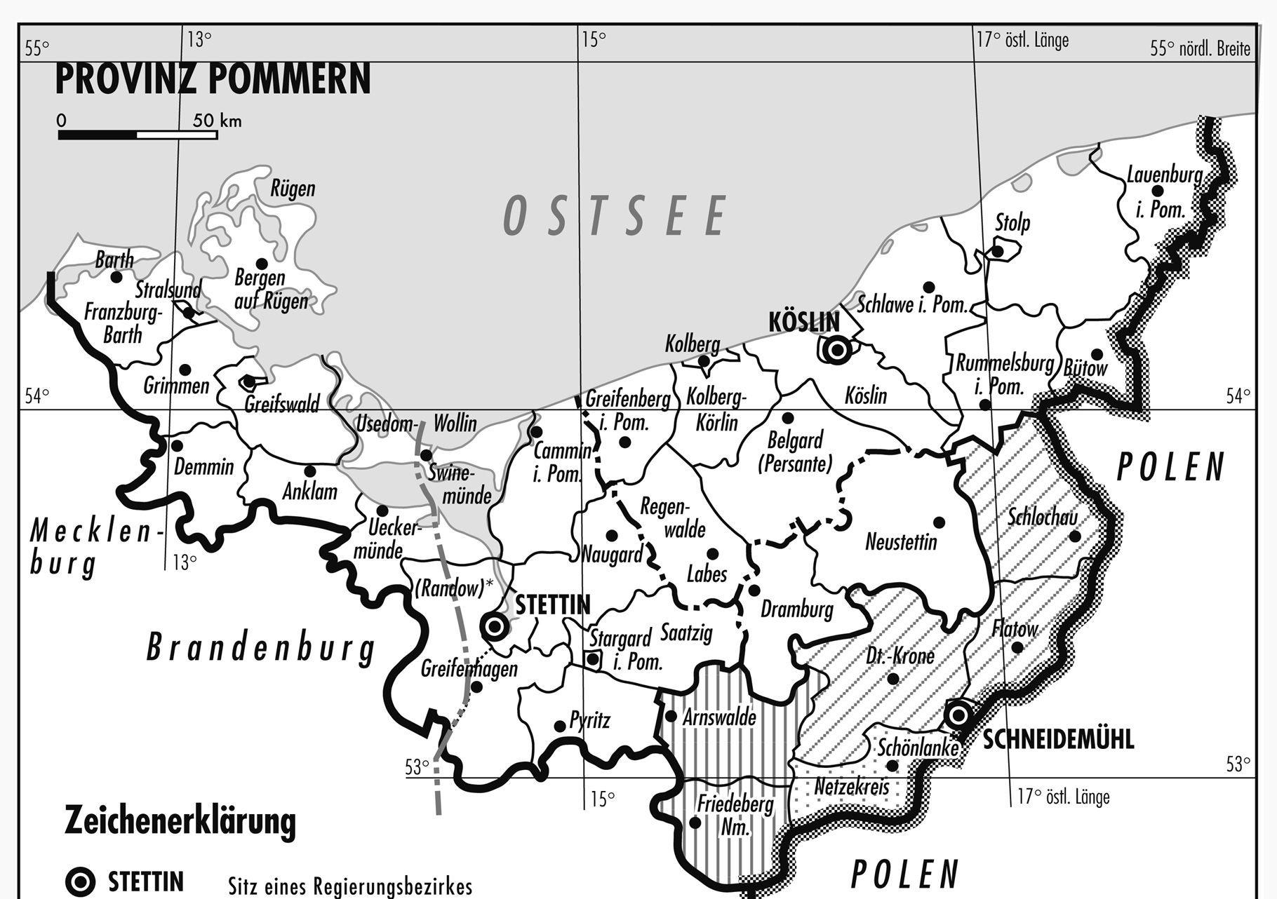 Pommern Karte Vor 1945.Greifenberg Pommern